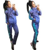 Winter Embroidered Fleece Two Piece Set