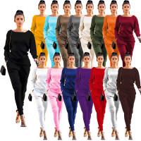 Women's Lady Tracksuit Sweatshirt Pants Set