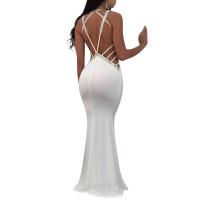 Sexy Halter Backless Evening Dress