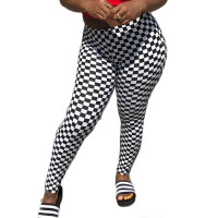 Casual High Waist Printed Trousers