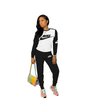 Casual Stitching Sports Pant Set