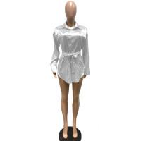 Jacquard Cardigan Shirt with Belt