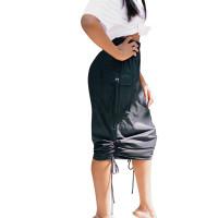 Black Drawstring Skirt