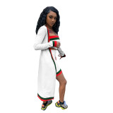 Casual Stitching Wrapped Shorts Set and Cloak