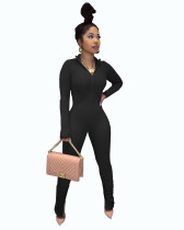 Casual High Neck Pleated Jumpsuits