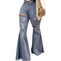 Ripped Flared Pants