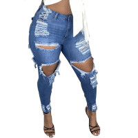 Ripped Fringe Jeans
