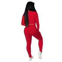 Solid Color Yoga Sportswear Pants Set