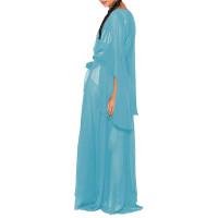 Bat Sleeve Cardigan Chiffon Dress with Belt