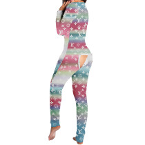 Casual Pattern Printed Home Jumpsuit