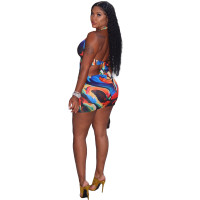 Sexy Colorful Printed Swimsuit Dress