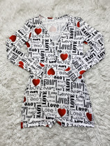 Valentine's Day Love Printed Home Jumpsuit
