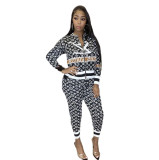 Casual Printed Dyeing Two Piece Set