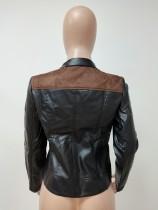 PU Leather Leopard Jacket