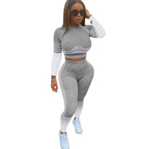 Casual Gradient Yoga Two Piece Outfits