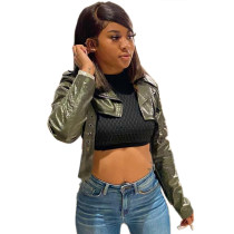 Casual Leather Short Crop Jacket