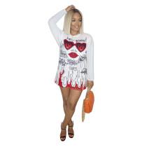 Casual Printed Mini Dress