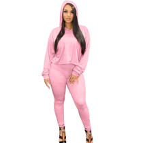 Casual Hoodie Two Piece Set