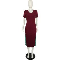 Pit Split Button Long Dress