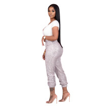 Ladies Sequins Lining Pants