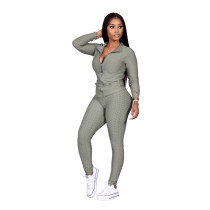 Casual Jacquard Sports Homewear Pant Set