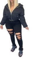Women Warm Winter Cropped Jacket Outwear Down Bubble Coat