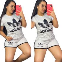 Casual Printed Sports Shorts Set