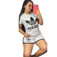 Casual Printed Sports Shorts Set