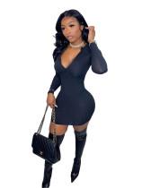Pit Zipper Tight Mini Dress