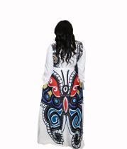 Casual Print Butterfly Swing Dress