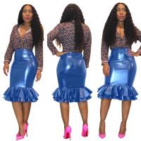 PU Leather Skirt