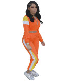 Casual Splicing Sports Two Piece Pant Set