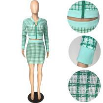 Casual Printed Thread Skirt Set