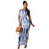 Casual Halter Backless Long Dress
