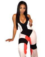Casual Sleeveless Print Jumpsuit