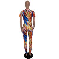 Casual Tie-dye Print Jumpsuit