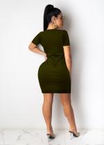 Sexy Alphabet Print Short Mini Dress
