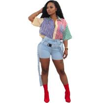Multicolor Striped Print Shirt