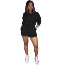 Solid Color Sports Shorts Set