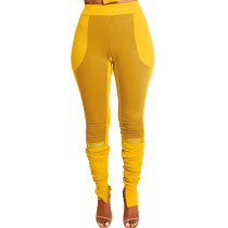 Casual Pit Contrast Color Stitching Pleated Pants