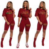 Amazon Hot Sale Letter Sequin Embroidery Fashion Set