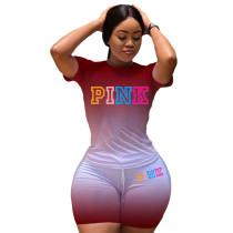 Casual Gradient Print Sweatpants Pant Set
