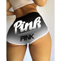 Sexy Shorts Pattern Printed Yoga Pants