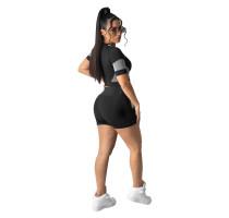 Casual Pattern Printed Short Set Sportswear