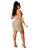 Pit Straps Sexy Hollow Mini Dress