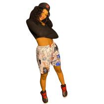 Casual Print Shorts