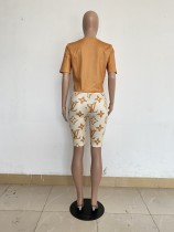 Casual Print Dyeing Two Piece Outfits