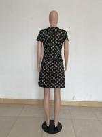 Casual Print Letter Mini Dress