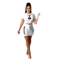 Casual Playing Card Queen Skirt Set