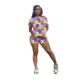 Casual Pattern Printed Two Piece Short Sets